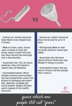 Which one's considered gross, again? #lovemymenstrualcup #justthefacts #periodtalk
