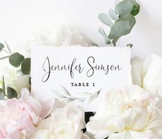 Greenery Wedding Place Card and Escort Card Templates, Place card Template, Download Escort cards, Place Cards Wedding Seating card Editable