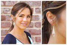 Washed Metal Earrings in 2 colors