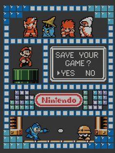 Nintendo SamplerCross Stitch Pattern