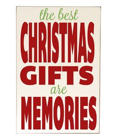 Cream & Red 'Memories' Wall Sign | zulily