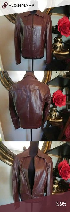 Hand made Argentina Leather Jacket! This jacket is stunning. Was hand made in Argentina! Sadly it no longer fits?? It is in used condition. This jacket is vintage as it is about 20 years old! Still in great condition! Size is 36. Small Jackets & Coats Blazers