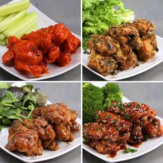 Oven-Baked Wings 4 Ways