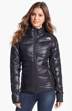 Nordstrom Jackets - The North Face 'Hyline' Hybrid Down Jacket available at I need a jack. Winter Jackets Women, Coats For Women, Nylons, Nordstrom Jackets, Puffy Jacket, Rain Wear, Down Coat, North Face Jacket, Winter Outfits