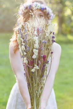 Dried flower bouquet | Photo by Jaye Kogut