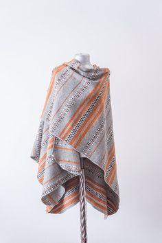 Tribal Poncho Aztec Poncho Ethnic Poncho Ethnic Coat Boho by Urbe, $115.00