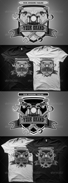 Lowride Motorcycle T-Shirt Template Vector EPS, AI. Download here: http://graphicriver.net/item/lowride-motorcycle-tshirt/7656040?ref=ksioks