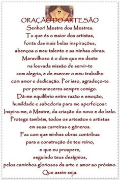 oração da artesã - Pesquisa Google Faith, Sayings, Logos, Quotes, Poster, Thoughts, Heavenly Angels, Candy Sayings, Psalms