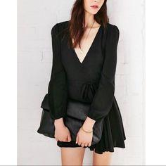 Black Wrap Dress - Urban Outfitters - Medium