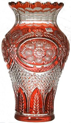 Val St Lambert vase 'Pax' - 1920-1925 - H 36 cm.