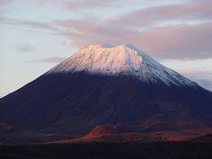 Mount Tongariro - just north of here today!