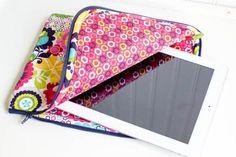 Gratis Schnittmuster iPad Tasche ❤ mit Anleitung ❤ PDF zum Ausdrucken ❤ Schnittmuster Freebook ✂ Jetzt Nähtalente.de besuchen ✂