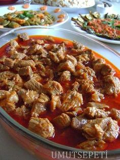 sulu et yemeği tarifi gerichte meat cuts dishes loaf recipes East Dessert Recipes, Lunch Recipes, Meat Recipes, Chicken Recipes, Dinner Recipes, Cooking Recipes, Iftar, Biryani, Italian Chicken Dishes