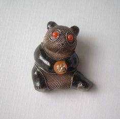 Chinese Panda Pin Brooch