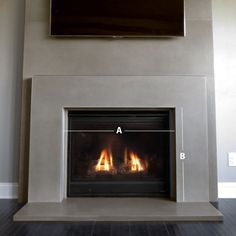 Image result for raw concrete fireplace hearth