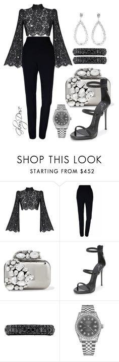 """""""Untitled #110"""" by chichimia ❤ liked on Polyvore featuring Rasario, Plakinger, Jimmy Choo, Giuseppe Zanotti, Effy Jewelry, Rolex and Suzanne Kalan"""