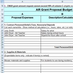 Basic Grant Budget Template , Grant Budget Template , Grant Budget ...