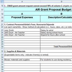 Grant Proposal Template   Wisdom    Propuestas