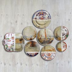 Cool idea with guido plates or cafe plates