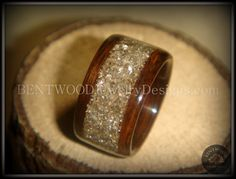 Bentwood Ring Rosewood Wood Ring with Silver by BENTWOODJewelry, $160.00