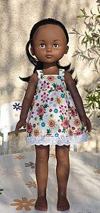 (Sundress) retro dress pattern for Les Cheries Doll Clothes Patterns, Doll Patterns, Clothing Patterns, Nancy Doll, Disney Animator Doll, Wellie Wishers, Couture Sewing, Retro Dress, Clothes For Sale