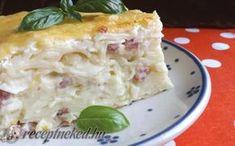 Tarjás-sajtos fodros kocka tepsiben sütve recept fotóval