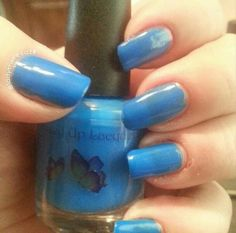 This is 'It's !#&%$@ blue' from the 'Neon addicts anonymous'  collection by www.allmixeduplacquers.com. shown here: 2 coats, no white base, no top coat.
