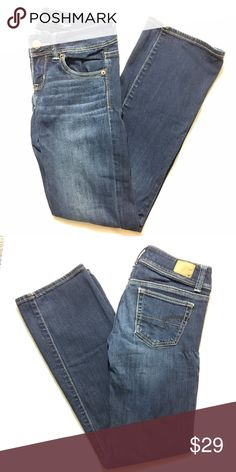 American Eagle Stretch Slim Boot jeans Great condition. Some areas may show signs of previous stretch, but not when worn. Bundle 3+ from me and save 15%, only pay shipping once, and get a free gift! American Eagle Outfitters Jeans