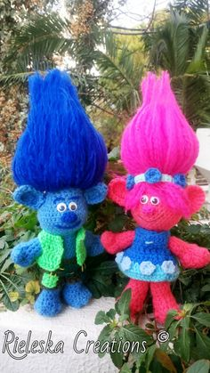 2 patterns together Poppy and Branch Trolls from the by Rieles