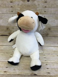 Baby Cubbies Personalized Stuffed Cow by LittleRedEmbroidery