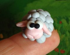 Items similar to Little sheep - a Polymer Clay Creation by Bdbworld on Etsy (No on Etsy Polymer Clay Animals, Cute Polymer Clay, Cute Clay, Polymer Clay Miniatures, Fimo Clay, Polymer Clay Charms, Polymer Clay Creations, Easy Clay Sculptures, Clay Monsters