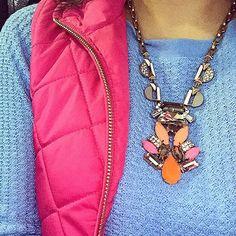 Weekend casual from @glitterandjuls in our Pop Geo Pendant Necklace by Stella & Dot. #stelladotstyle
