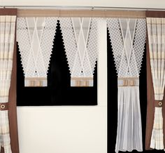 Curtain V-Ka Any dimension Rideaux Design, Glamour, White Fabrics, Curtains, Elegant, Home Decor, Drawing Rooms, New Looks, Colors