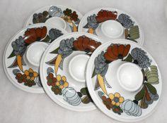 Estate Find / 1970's VINTAGE THOMAS EGG Cups/ Floral by BYGONERA, $50.00