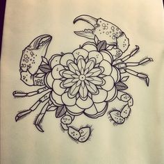 Zodiac Tattoo Inspirations:: Cancer the Crab Mandala Tattoo Design, Mandala Arm Tattoo, Tattoo Designs, Tattoo Ideas, Animal Mandala Tattoo, Lotus Tattoo, Tattoo Sketches, Tattoo Drawings, Body Art Tattoos