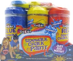 Kids' Drawing Chalks - CraZArt Sidewalk Chalk Paint * You can get additional details at the image link.