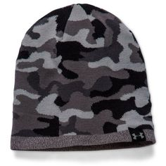 Under Armour Steelgraphite 2-Way Camo Beanie Hat ( 30) ❤ liked on Polyvore 737c3ab14386
