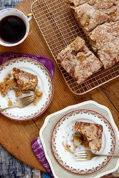 Pear Crumble Coffee Cake // joy the baker