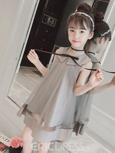 Toddler Baby Girl Princess Kid clothes round neck sleeveless Tassel Tulle Polyester backless Sequin Party Mini Dresses one piece clothing size chart Frocks For Girls, Dresses Kids Girl, Kids Outfits, Baby Girl Dress Patterns, Baby Dress Design, Kids Gown, Baby Girl Princess, Kind Mode, Kids Fashion