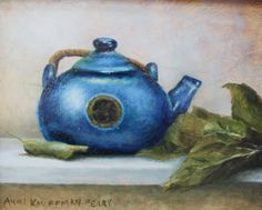 "For Sale: Blue Teapot by Aumi  | $250 | 10""w x 8""h 