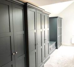 Bedroom Built In Wardrobe, Wardrobe Furniture, Built In Furniture, Wardrobe Doors, Wardrobe Design, Closet Bedroom, Bedroom Storage, Painted Wardrobe, Fitted Wardrobes