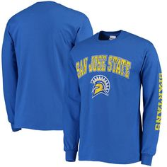 San Jose State Spartans New Agenda Distressed Arch & Logo Long Sleeve T-Shirt - Royal Blue - $21.99