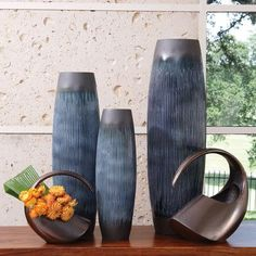 Global Views Matchstick Vase Size: Medium