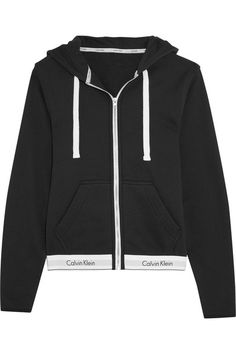 Calvin Klein Underwear - Modern Cotton-jersey Hooded Sweatshirt - Black - x small