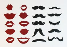 20 DIY Photo Booth Props 10 Mustache and 10 Lip by LittleRetreats