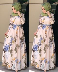 60 Looks de Hijab avec robe longue chic et simple pour vous inspirer - astuces hijab