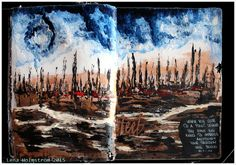 "Art journal page ""Freedom"" for Mixed Media Place"