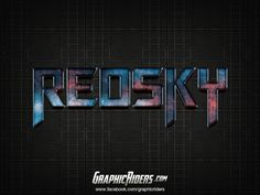 GraphicRiders | Sci-fi style – Red Sky (free photoshop layer style, text effect) #graphicriders