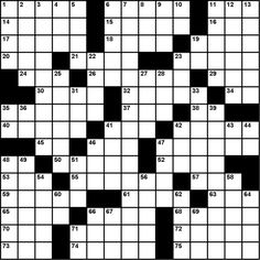 The first crossword puzzle, By Arthur Wynne, December 21