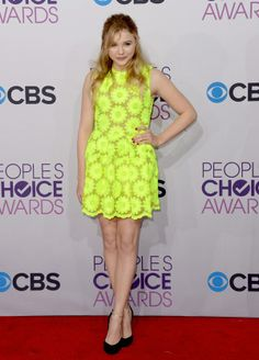 Chloe Moretz 2013 Peoples Choice Awards neon floral dress